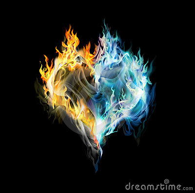 fire and ice heart - photo #3